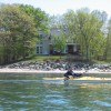 Kayaking in front of Home